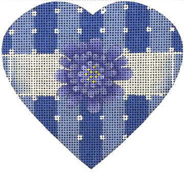 Purple Flower Heart - Canvas and Stitch Guide