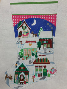 Christmas Village Stocking