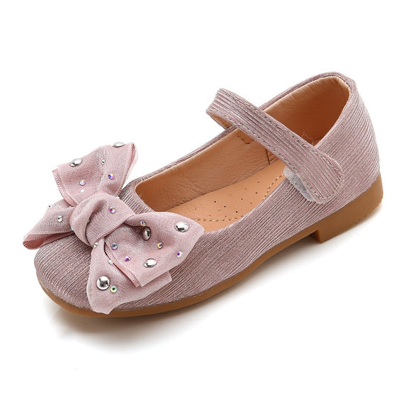 Bow Children Shoes Princess School Shoes For Girl Leather Flower For Big Kids Shoes Party Wedding 4 5 6 7 8 9 10 11 12 Year Old