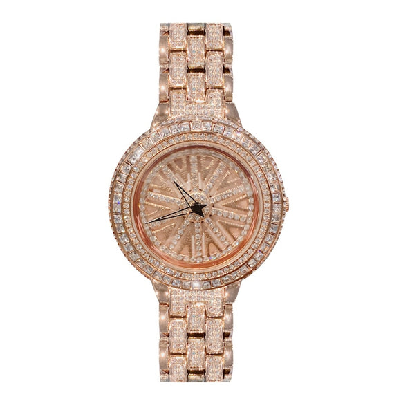 Women Rhinestone Watches Lady Rotation Dress Watch Luxury Brand Big Dial Bracelet Wristwatch Crystal Watch montre femme 2019 New