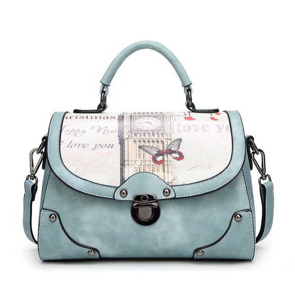 Ceossman Spring New Fashion Handbag Printed Women's Bag Trend Temperament Single Shoulder Oblique Messenger Cross-body Bag