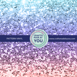 "12"" x 12"" Pattern Adhesive Vinyl- Blue Purple Pink Ombre Glitter"