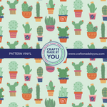 "12"" x 12"" Pattern Heat Transfer Vinyl- Stuck on You Cactus Sage"