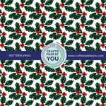 "12"" x 12"" Pattern Adhesive Vinyl- Christmas Holly"