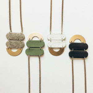 Pendant Necklace | CLAY + BRASS