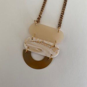 Necklace | CLAY + BRASS