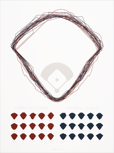 Ltd. Ed. Ballparks Serigraph<br>18x24 (2013)