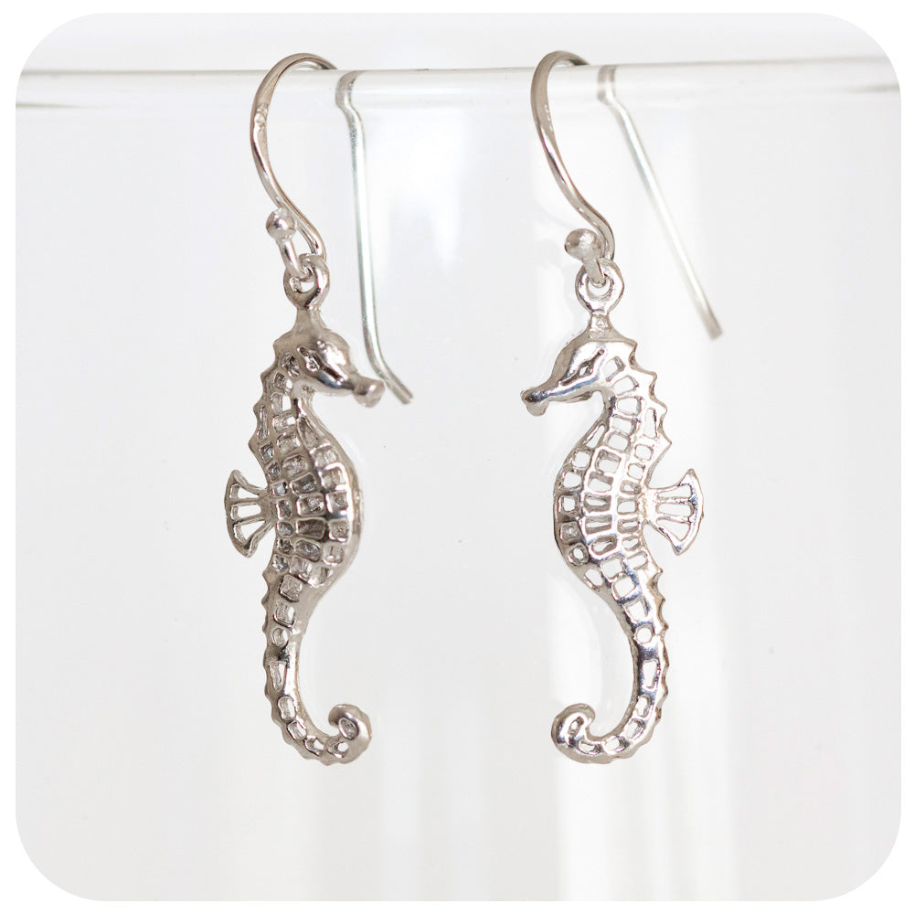 Sterling Silver Seahorse Earrings - Victoria's Jewellery