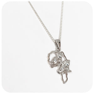 Africa Map Pendant with Bush Babies - Victoria's Jewellery