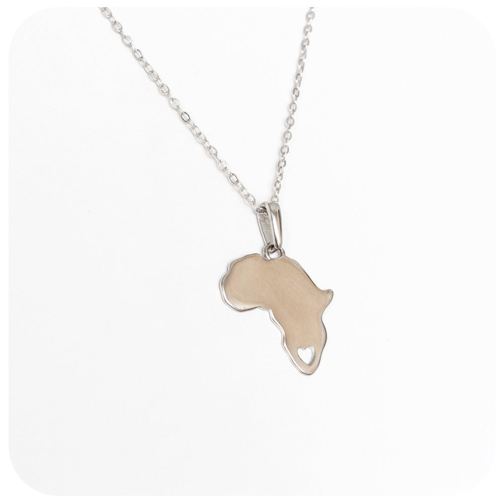 Africa with Heart Necklace - Victoria's Jewellery