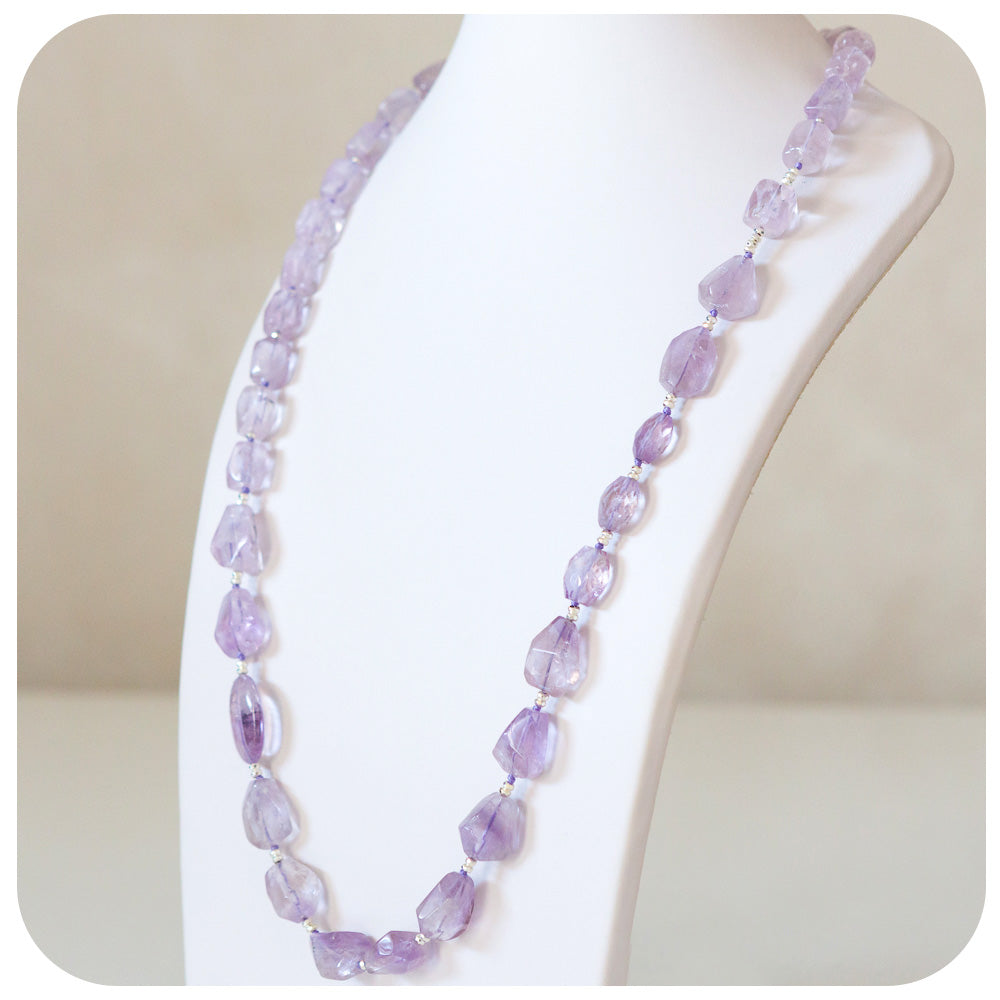 Amethyst and Hematite Bead Necklace - Victoria's Jewellery