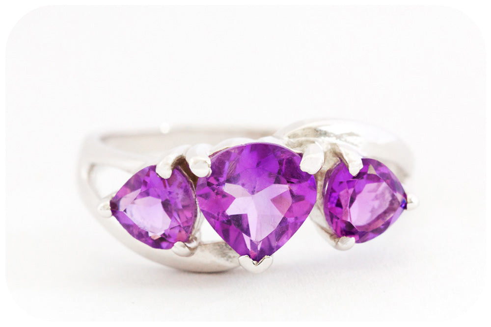 Trilogy Amethyst Ring - Victoria's Jewellery