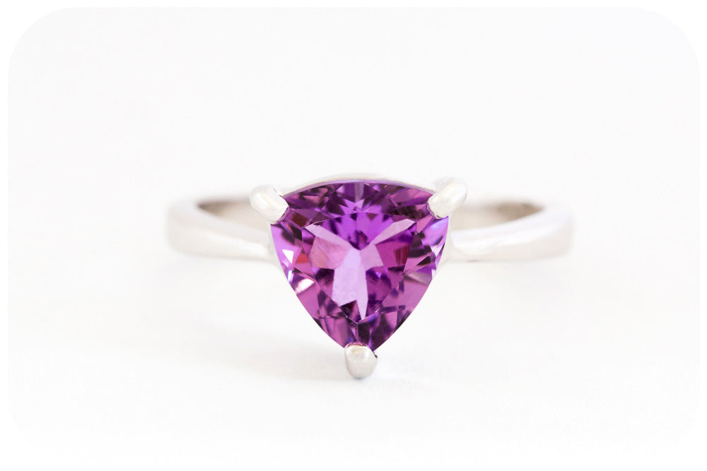 Trilliant Cut Amethyst Ring - Victoria's Jewellery
