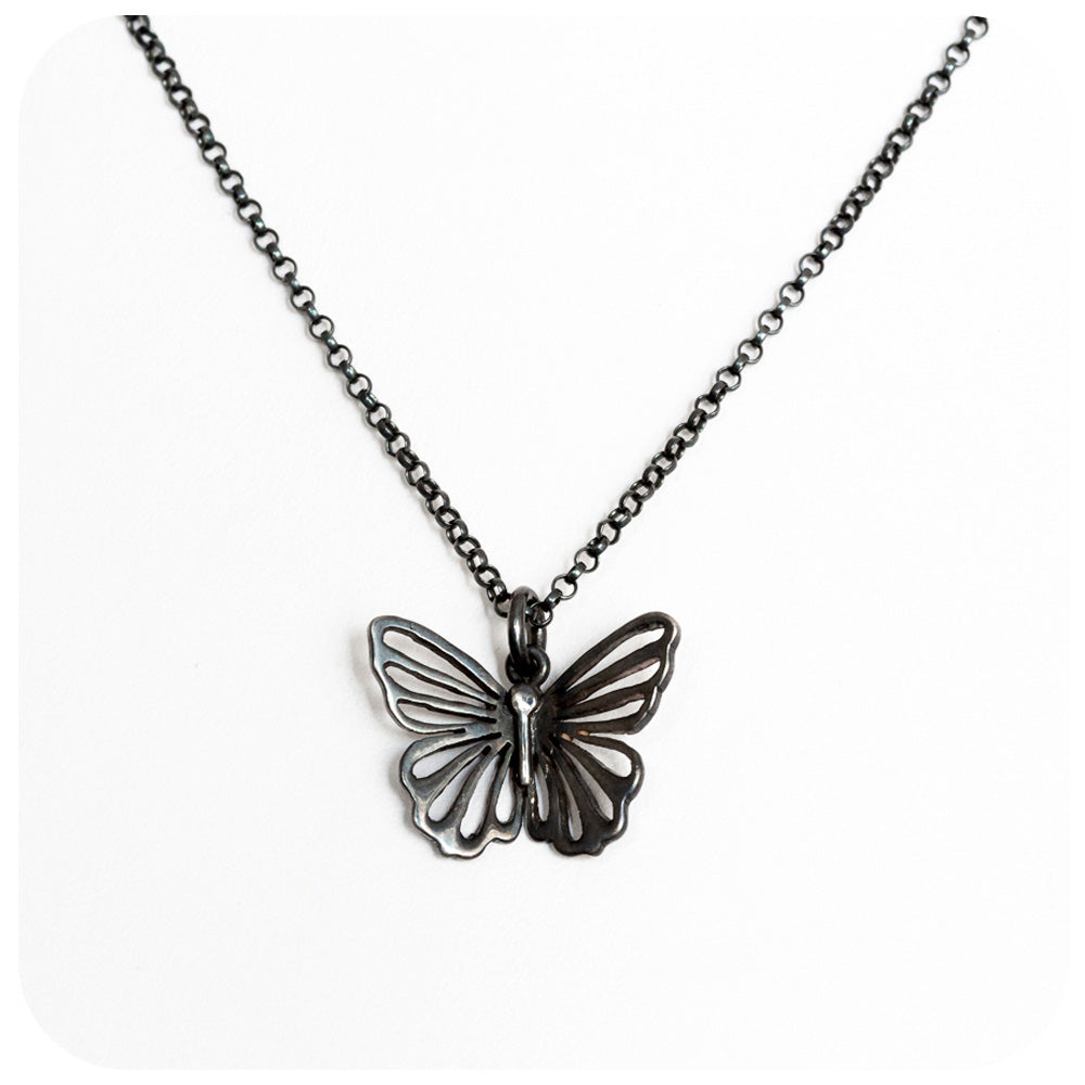 The Black Butterfly Necklace - Victoria's Jewellery