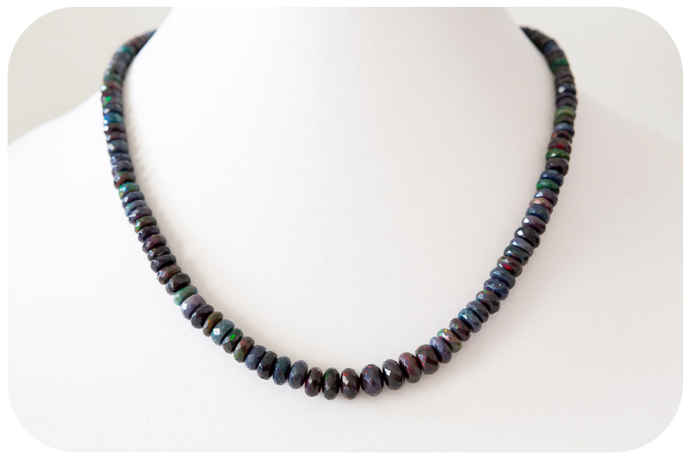 Mesmerising Black Ethiopian Opal Necklace - 79.6ct