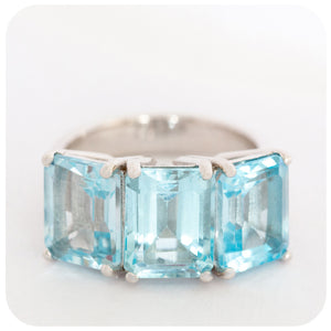 Spectacular Blue Topaz Cocktail Ring crafted with 925 Stirling Silver - Victoria's Jewellery