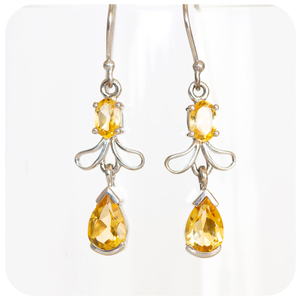 Citrine Angel Wing Earring - Victoria's Jewellery