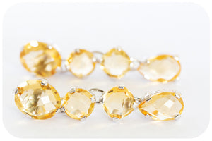 Cascading Citrine Earrings Crafted in 925 Sterling Silver - Victoria's Jewellery