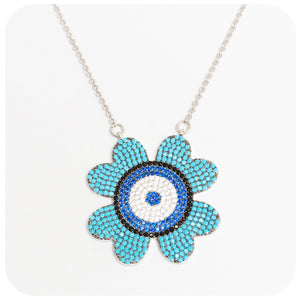 Cubic Zirconia Flower Necklace - Victoria's Jewellery