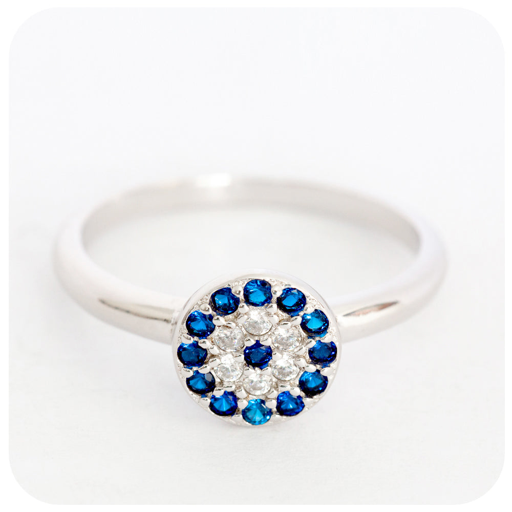 "Sterling Silver mythological ""Evil Eye"" protection Ring - Victoria's Jewellery"