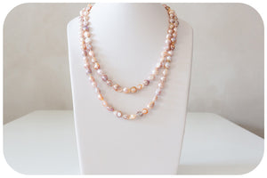Natural Colours Fresh Water Pearl Necklace - 120cm