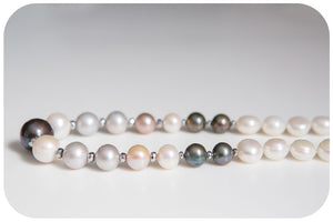 Freshwater Pearl Mix Necklace - 55cm - Victoria's Jewellery