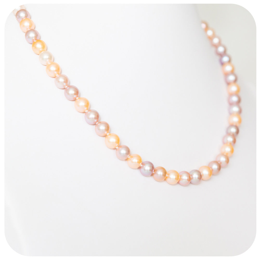 8mm Natural Colour Fresh Water Pearl Necklace - Victoria's Jewellery