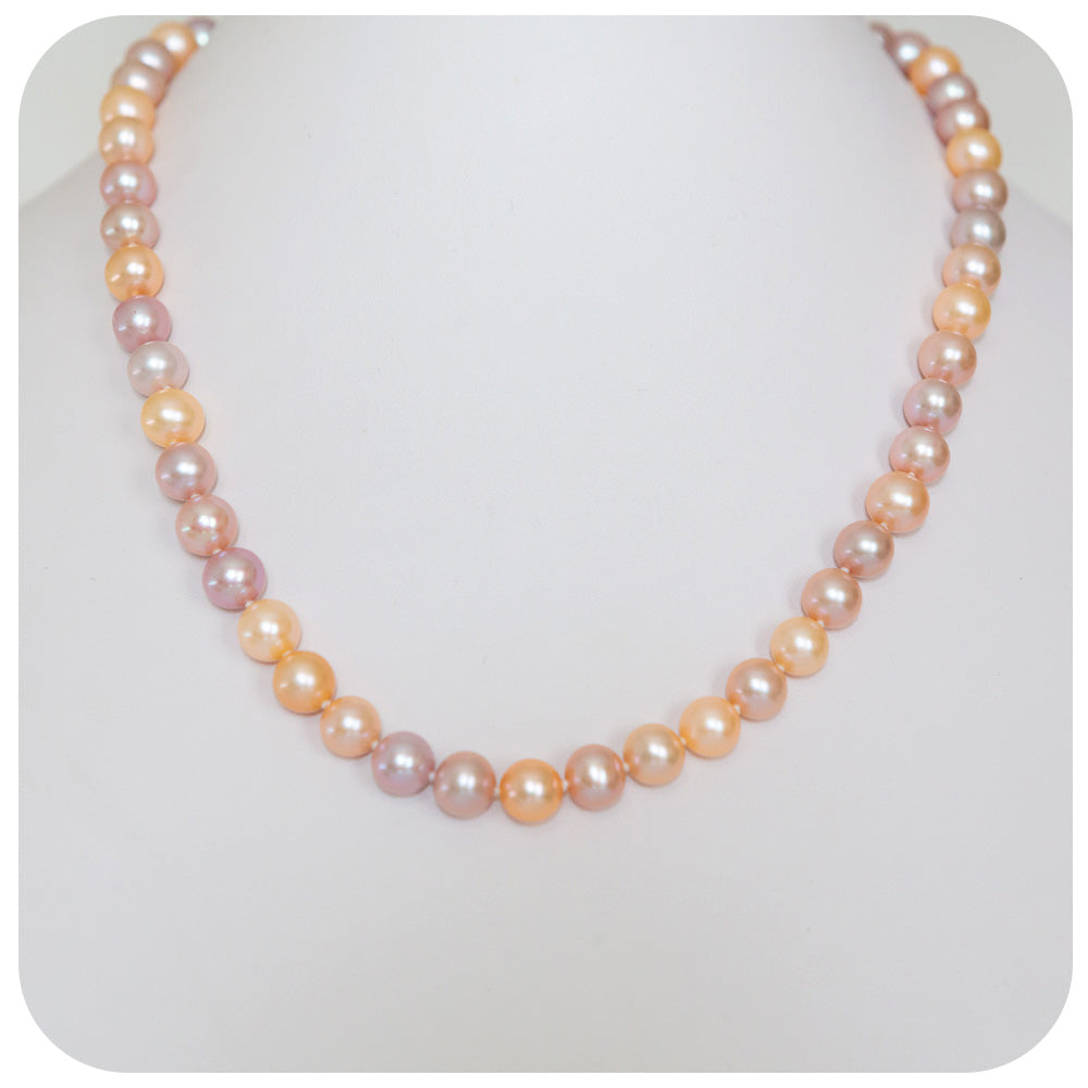 8 - 8.5mm Natural Colour Fresh Water Pearl Necklace - Victoria's Jewellery
