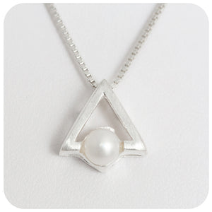 Sterling Silver Pendant with Fresh Water Pearl - Victoria's Jewellery