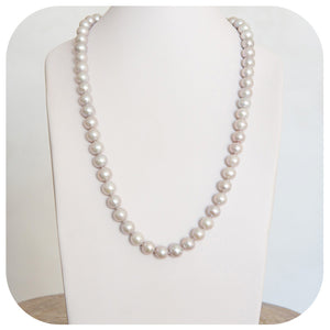 11-12mm Grey Fresh Water Pearl Necklace (68cm) - Victoria's Jewellery