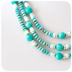 Howlite, Ostrich and Hematite Necklace