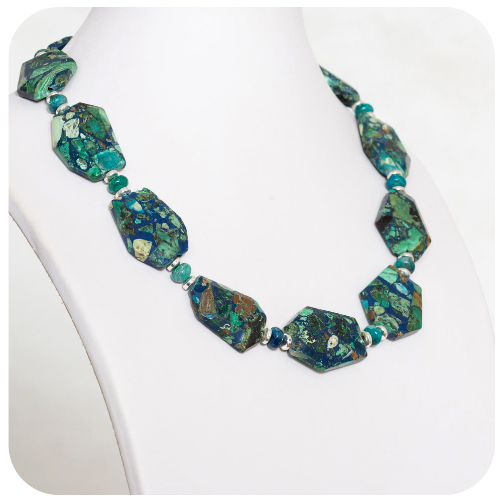 Jasper and Crysocolla Necklace - Victoria's Jewellery
