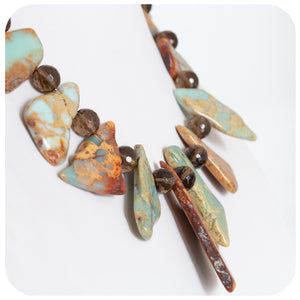 Jasper and Smokey Quartz Necklace - Victoria's Jewellery