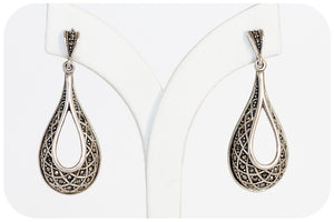 Silver Marcasite Earring - Victoria's Jewellery