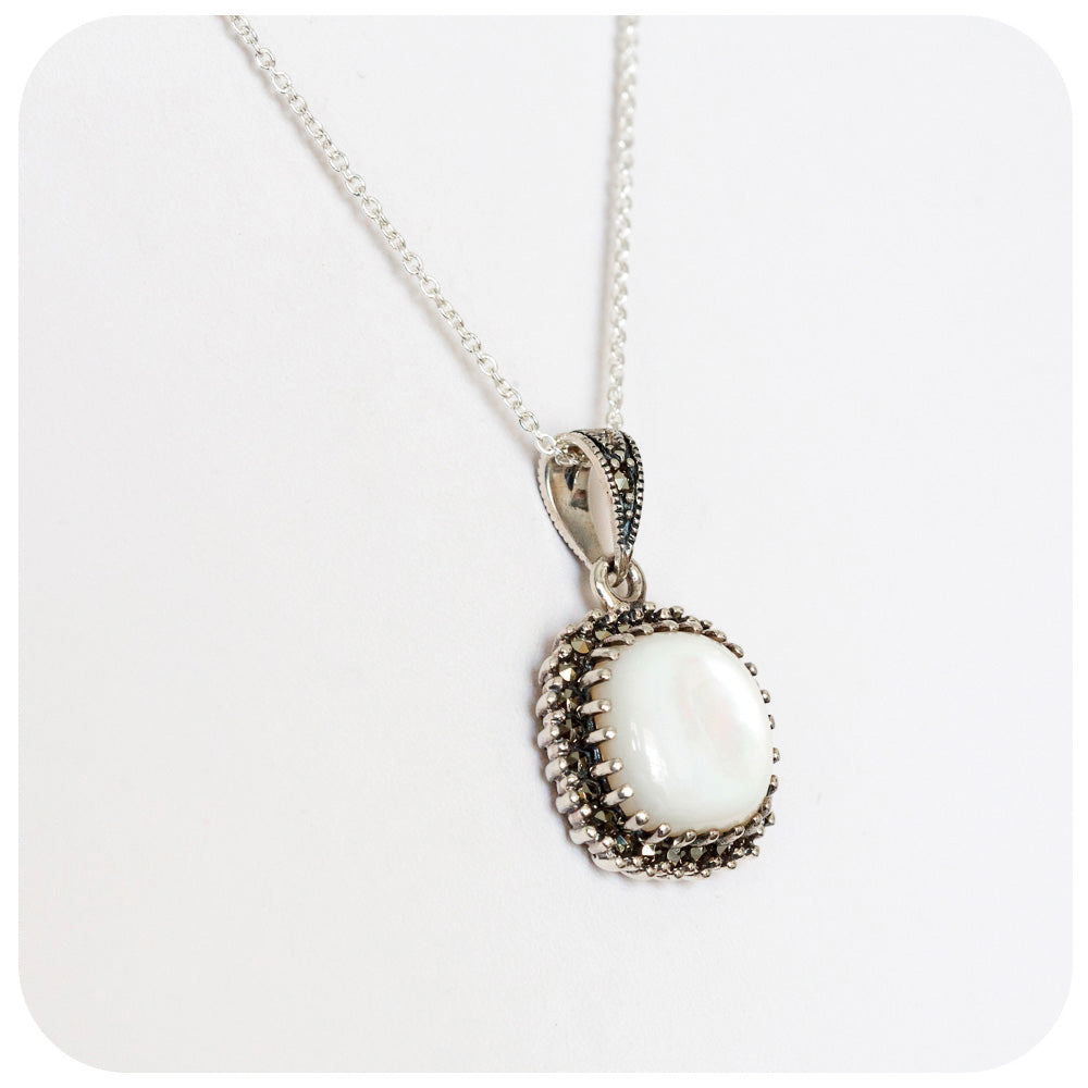 Square Mother of Pearl Pendant - Victoria's Jewellery