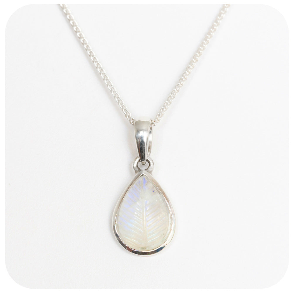 Carved Moonstone Pendant - Victoria's Jewellery