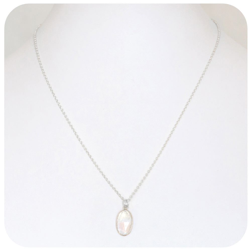 Moonstone Necklace in Sterling Silver - Victoria's Jewellery