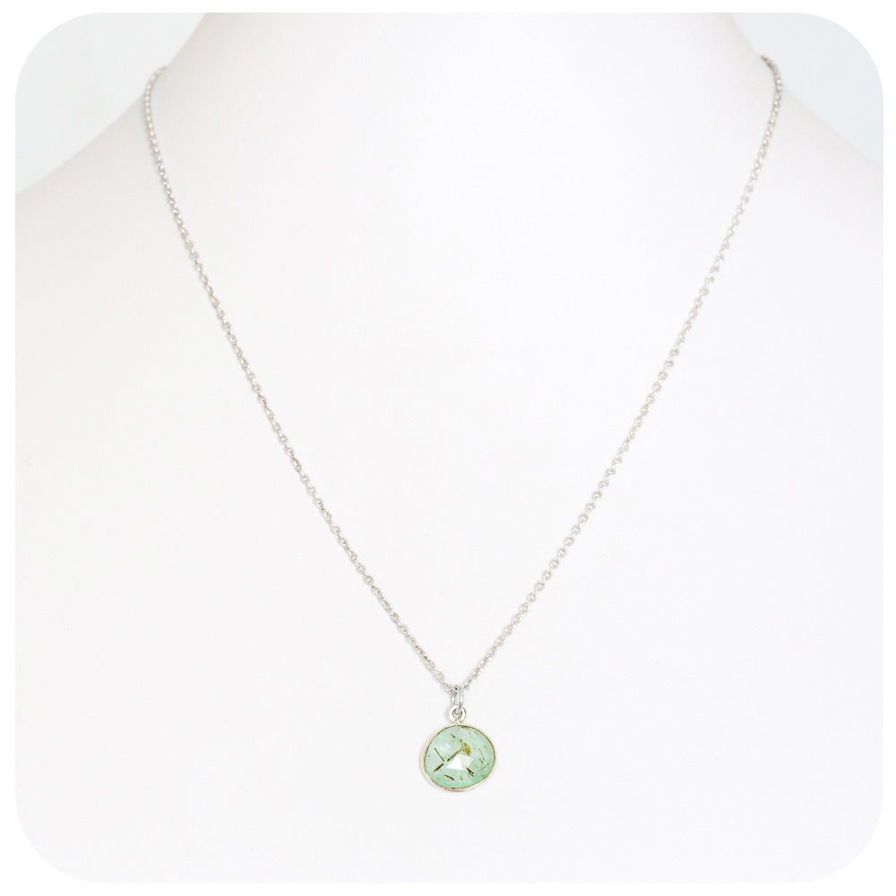 Prehnite Necklace is Sterling Silver - Victoria's Jewellery