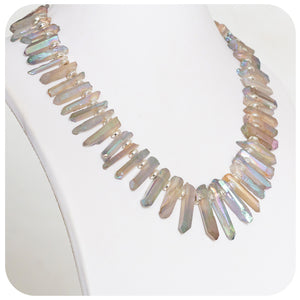 Quartz Sticks and Hematite Necklace - Victoria's Jewellery
