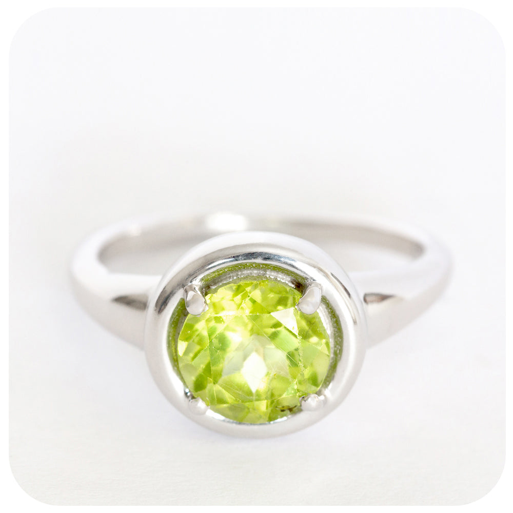 """Oh so lovely"" Peridot Ring Crafted in 925 Sterling Silver - Victoria's Jewellery"