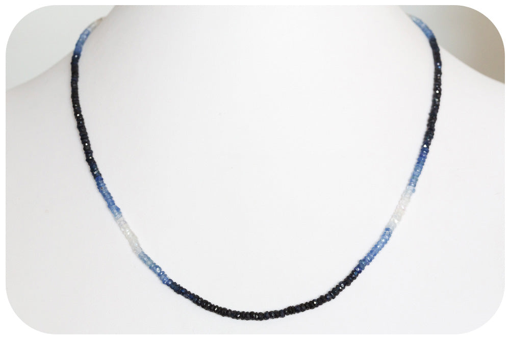 Blue Sapphire Bead Necklace - 35,5ct - Victoria's Jewellery