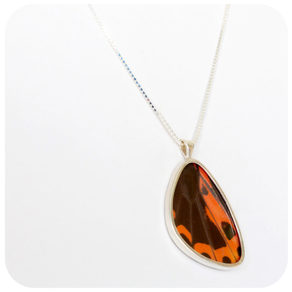 Butterfly Wing Pendant in Sterling Silver - 35mm