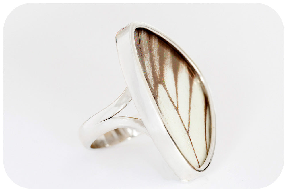 Butterfly Wing Ring in Sterling Silver - 30mm