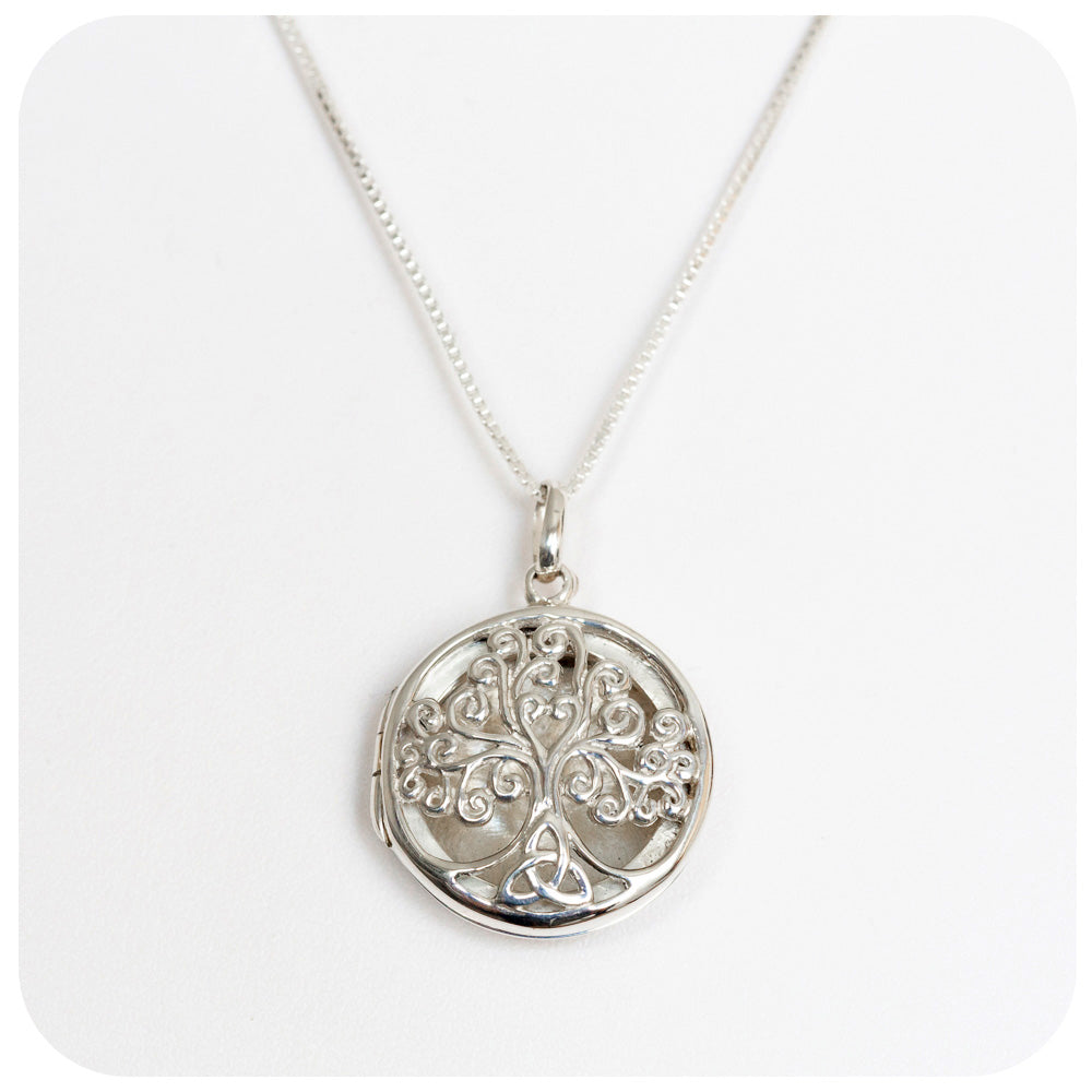 Beautifully Designed Tree of Life Locket Crafted in 925 Sterling Silver - Victoria's Jewellery