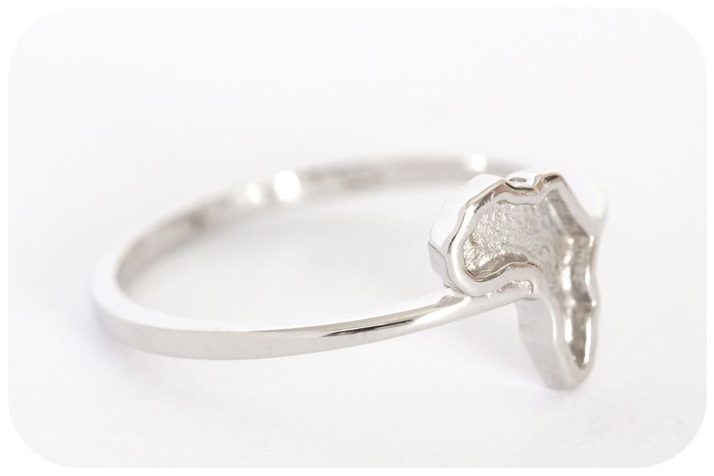 Silver Ring with a Satin Finish Africa - Victoria's Jewellery