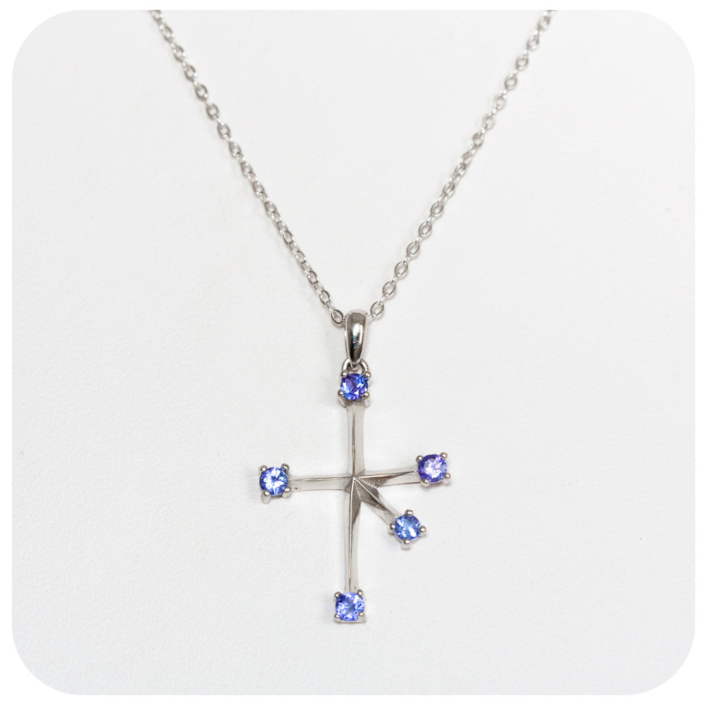 Southern Cross Necklace with Tanzanite - Victoria's Jewellery