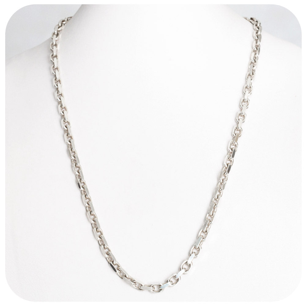 Sterling Silver Anchor Chain - 55cm