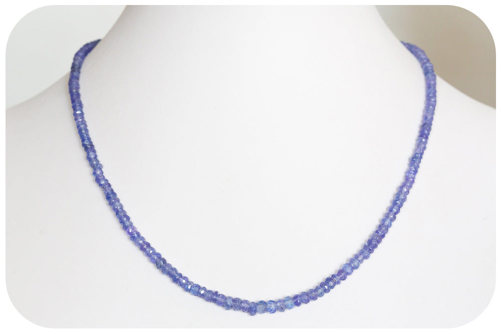 56,75ct Tanzanite Bead Necklace - Victoria's Jewellery