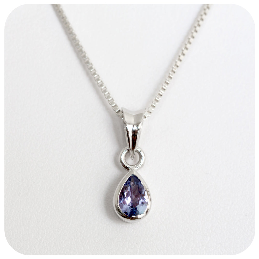 Pear Cut Tanzanite Pendant - Victoria's Jewellery
