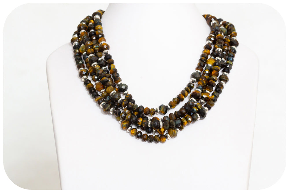 5 Strand Tiger's Eye Necklace - Victoria's Jewellery